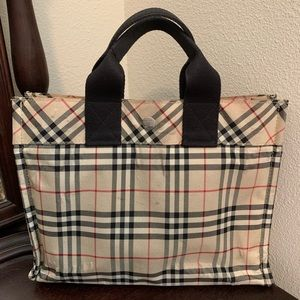 Auth Burberry London Blue Label Tote Bag!